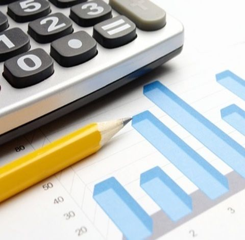 An Introduction to Fundamental Analysis - Stock Valuations; Picture of a stock market performance bar chart with a pencil and a calculator to analyze the data.