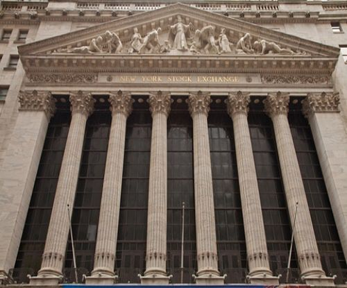 An Introduction to Stock Investing - Stock Market basics part 1; Picture of the New York Stock Market building fa�ade when viewed when walking past the front.