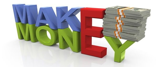 An Overview of Investing Strategies - Investing Strategies; Picture of an Investment sign with writing on large capital letters saying make money for stock investors with a bundle of money on the side.