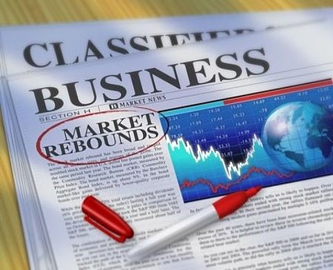 Risk Analysis - Analysis of Stock Market Cycles; picture of a business section of the newspaper with a market rebounds article written for stock investors about the market correction