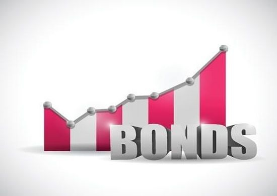 Bond Investing Strategies - animated picture of a large sign with writing saying bonds in light grey large font style for investors with a graph behind increasing to the right