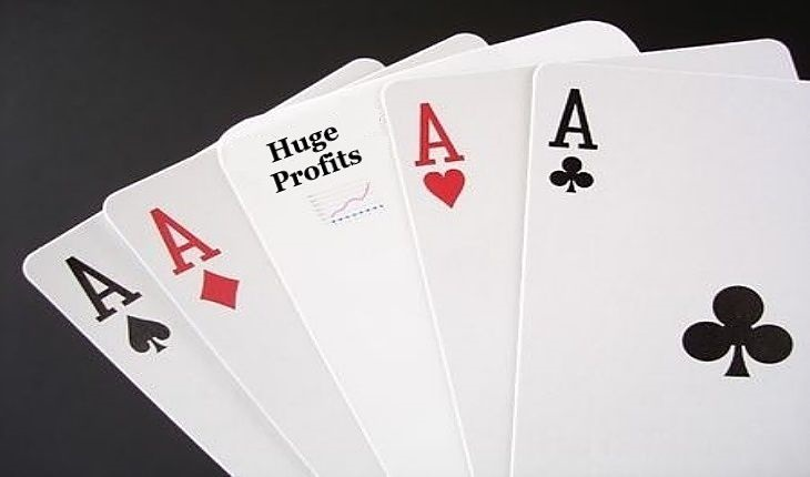 Contrarian Investing - Do not Play the Market; picture of playing cards depicting a gambling poker game for taking a risk