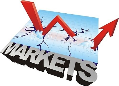 Stock Market Theories - Efficient Market Hypothesis; picture of an animated three dimensional stock graph crashing through the chart with a sign saying markets in capital letters