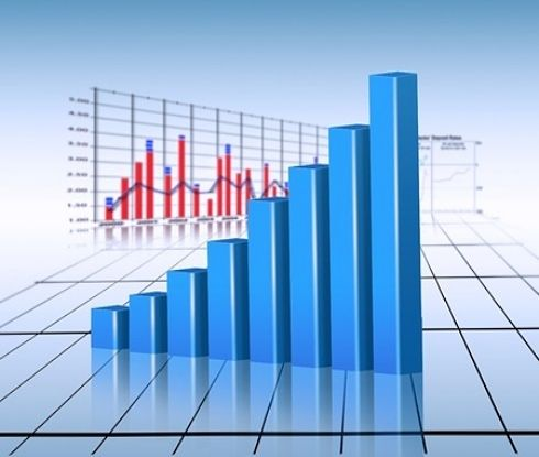 The Investing Style of William O'Neil - The Life of William O'Neil; Picture of the portfolio growth for a stock investor with animated three dimensional bars and a line chart behind it.