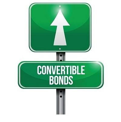 Bond Investing Strategies - Speculating with Bonds; picture of a road sign with a green background and a white arrow pointing upwards and the word convertible bond written in white large scale font
