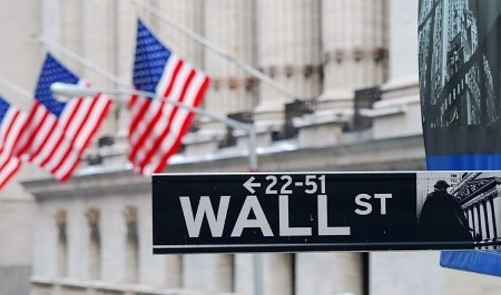 Stock Investing Part 1 - Listed Public Companies; Picture of a street sign with black background with white writing in large capital letters saying Wall Street for stock investing.