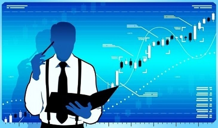 Stock Option Trading - picture of a stock trader scratching his head on what strategy to use for the stock that is in a strong uptrend shown against a light blue background panel
