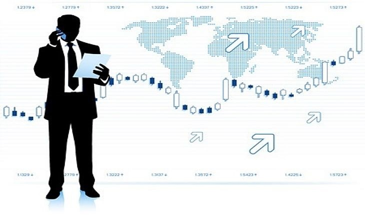 Stock Option Trading - picture of an option trader looking at a stock chart as it goes higher with a strong uptrend deciding the best strategy to use