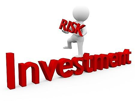 Stock Investing Part 2 - Stock Investor Risk; animated Picture of a plastic model stock Investor holding a risk management sign displayed in bright red large letters.