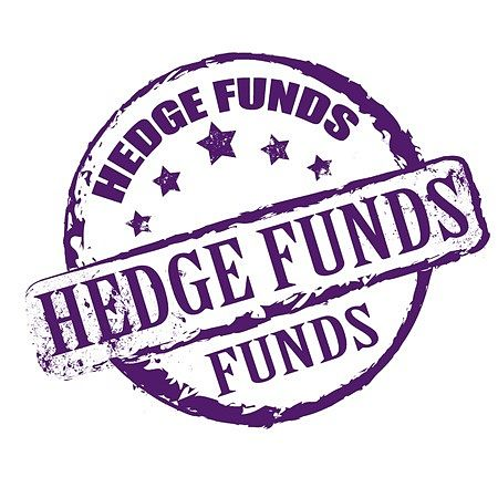 The Investing Style of Benjamin Graham - Picture showing a hedge fund symbol with purple writing on a white background. Benjamin Graham operated an early form of a hedge fund.