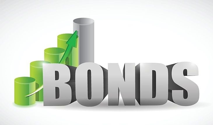 The Various Categories of Bonds - picture pf a large animated sign with three dimensional letters in light grey large scale font spelling out the word bonds with an up arrow beside the sign